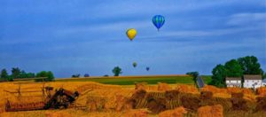 This morning in Amish country balloons jim fisher